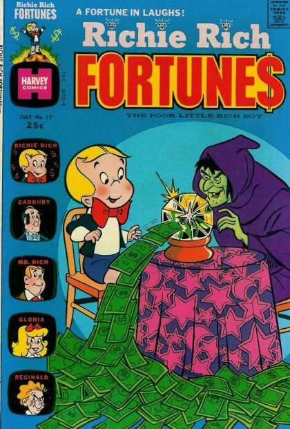 Richie Rich Fortunes 17 - Cystal Ball - Chair - Table - Money - Mantel