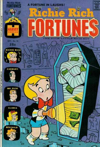 Richie Rich Fortunes 18 - Coffin - Muumy - Dollar Bills - Flashlight - Puddles