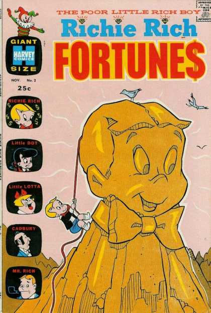 Richie Rich Fortunes 2 - Birds - Statue - Rope - Diamonds - Jack In The Box