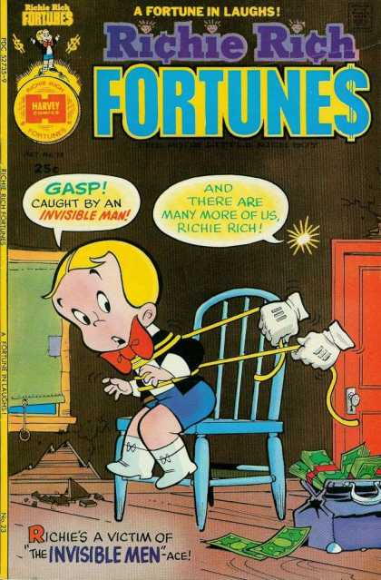 Richie Rich Fortunes 23 - Harvey - Gloves - Blonde - Boy - Invisible Man