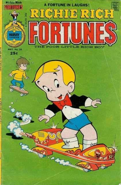 Richie Rich Fortunes 28 - The Poor Little Rich Boy - Fortune Laughs - Skating Richie Rich With His Friends - Richie Richs Dog Dollar - A Boy With Fortune