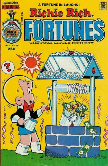 Richie Rich Fortunes 29 - Poor Little Rich Boy - Well - Money - Red Bow Tie - Laughs