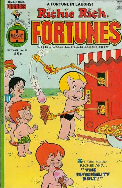 Richie Rich Fortunes 30 - Harvey - Comedy - Children - Beach - Ice Cream