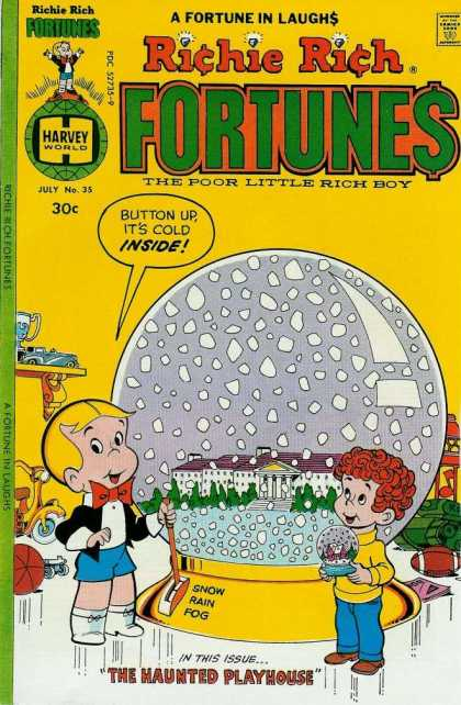 Richie Rich Fortunes 35 - Rich - Born With A Silver Spoon - Rich Boy - Poor Little Rich Boy - Richie And Friend