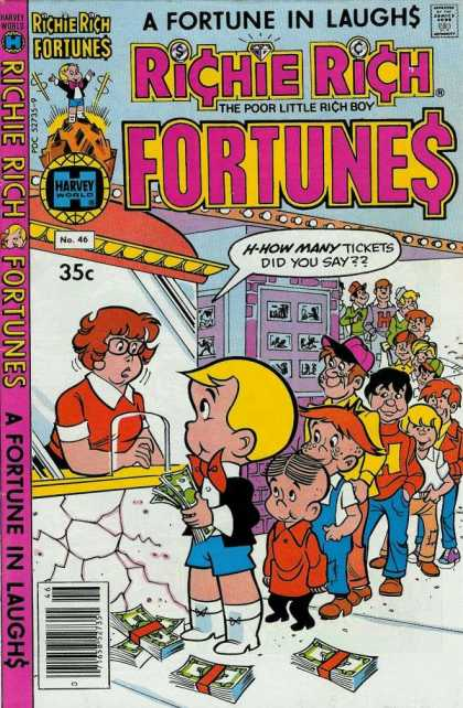Richie Rich Fortunes 46 - Wealthy - Laughs - Kids - Movie Tickets - Money