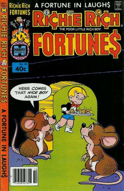 Richie Rich Fortunes 48 - A Fortune In Laughs - Approved By The Comics Code Authority - Plate - Harvey World - The Poor Little Rich Boy