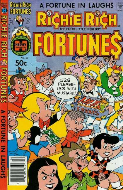 Richie Rich Fortunes 53 - Poor Little Rich Boy - Baseball Game - Hot Dogs - Concessions - Friends