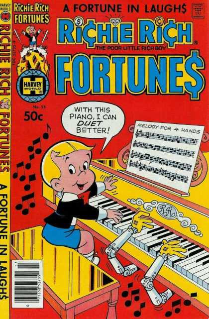 Richie Rich Fortunes 55 - 50c - Harvey - Harvey World - A Fortune In Laughs - A Fortune In Laugh