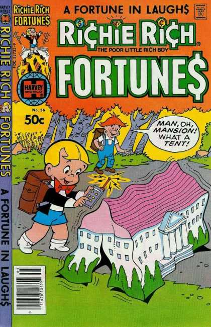 Richie Rich Fortunes 56 - Fortunes - A Fortune In Laughs - Kids - Tent - Forest
