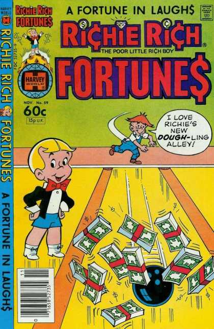 Richie Rich Fortunes 59 - Fortune In Laughs - I Love Richies New Dough-ling Alley - Money - Boy - Ball