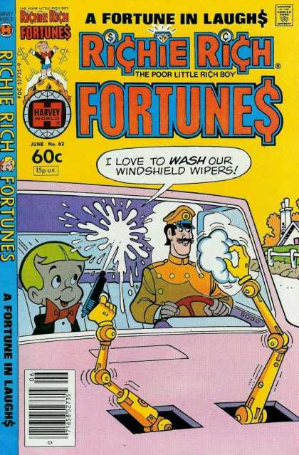 Richie Rich Fortunes 62 - Laughs - Windshield Wipers - Driving - Water Gun - Wash
