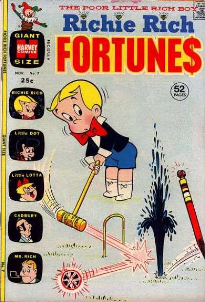 Richie Rich Fortunes 7 - Cicket - Oil - Diamond - Gold - Sport