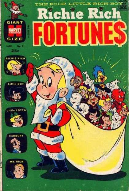 Richie Rich Fortunes 9 - Santa Costume - Casper - Little Dot - Little Lotta - Little Audrey