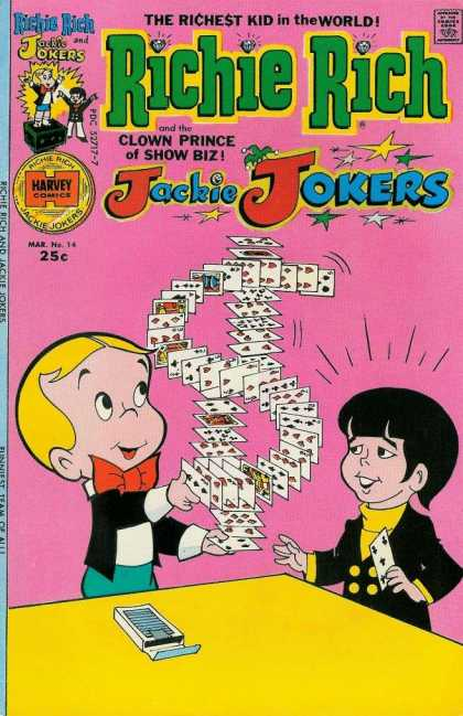 Richie Rich & Jackie Jokers 14 - Cards - Dollar Sign - Card Trick - Deck - Table