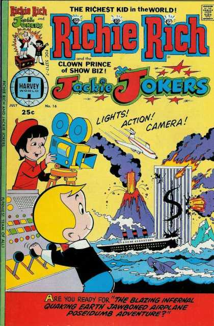 Richie Rich & Jackie Jokers 16 - Boys - Plane - Volcano - Ship - Water