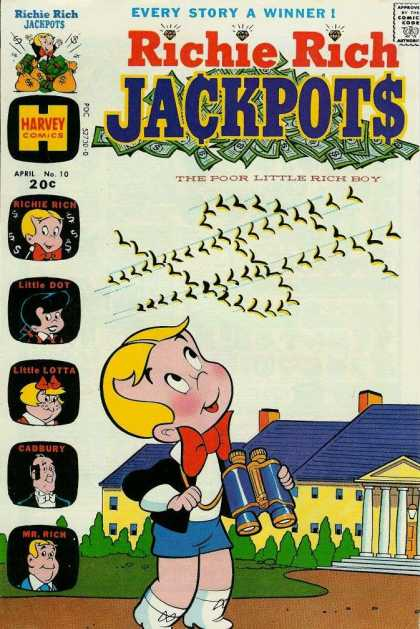 Richie Rich Jackpots 10 - Birds - Dollar Sign - Little Dot - Little Lotta - Cadbury