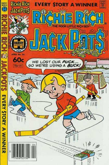 Richie Rich Jackpots 56 - Every Story A Winner - Comics Code - Boys - Ice - Winter