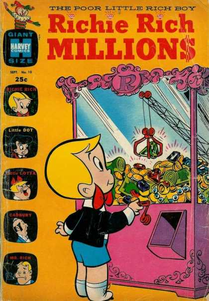Richie Rich Millions 10 - Crane - Riches - Money - Gold - Jewels