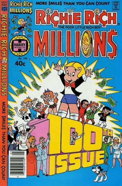 Richie Rich Millions 100 - Richie Rich - Millions - 100th Issue - Poor Little Rich Boy - More Smiles Than You Can Count