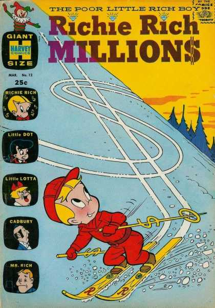 Richie Rich Millions 12 - Dollar Sign - Ski - Cadbury - Little Dot - Little Lotta