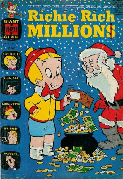 Richie Rich Millions 16 - The Poor Little Rich Boy - Giant Size Comic - Richie Rich - Mr Rich - Little Lotta