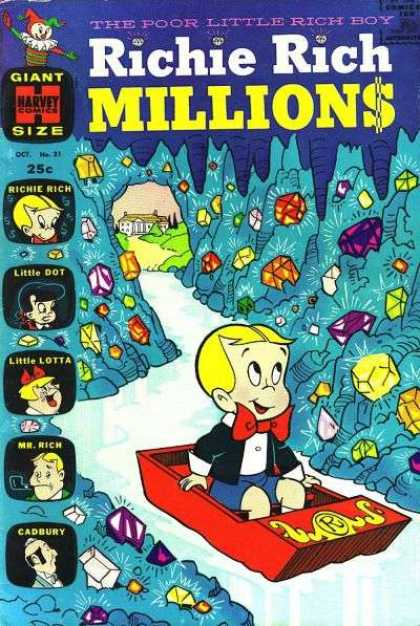 Richie Rich Millions 31 - Gems - House - Cave - Shiny - Little Dot