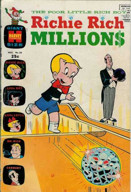 Richie Rich Millions 38 - Bowling Alley - Butler - Little Dot - Little Lotta - Mr Rich