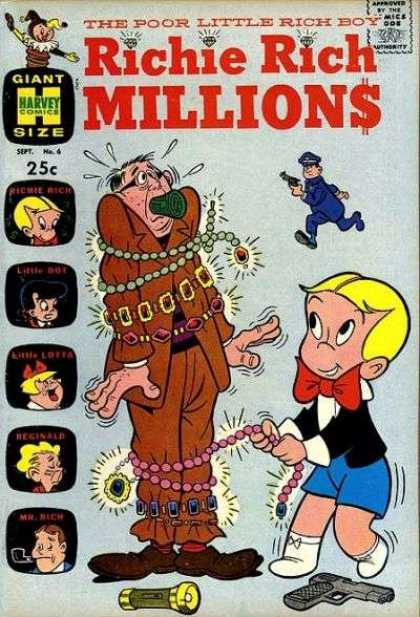 Richie Rich Millions 6 - Jewelry - Boy - Man - Cop - Gun