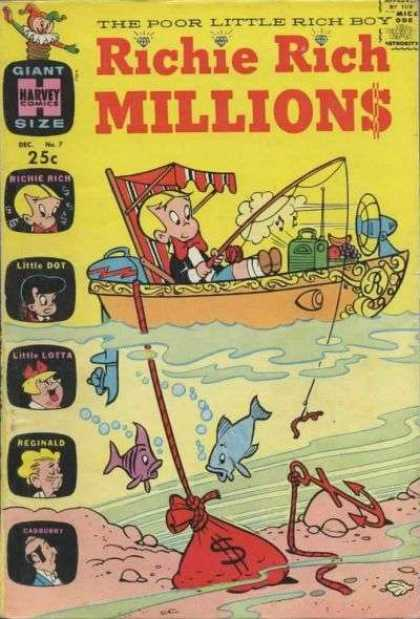 Richie Rich Millions 7 - Boat - Fishing Pole - Fish - Anchor - Radio