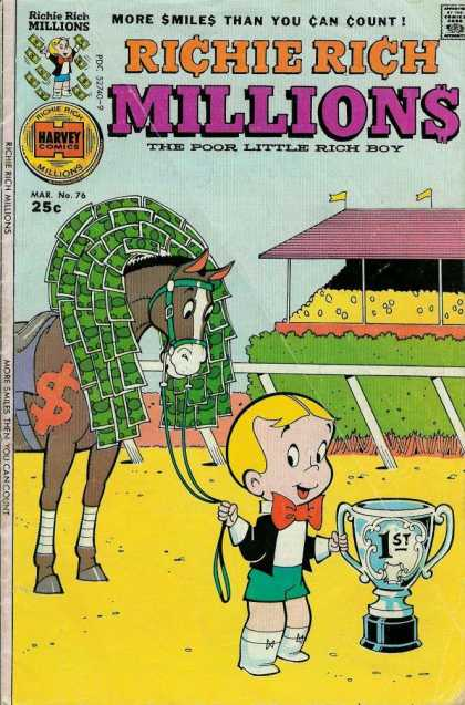 Richie Rich Millions 76 - Horse - Money - Trophy - Race Track - More Smiles Than You Can Count