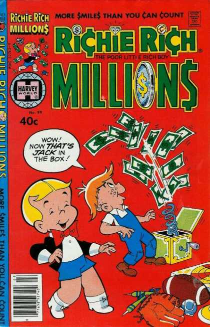 Richie Rich Millions 99 - Money - Bills - Jack In The Box - Football - Toys