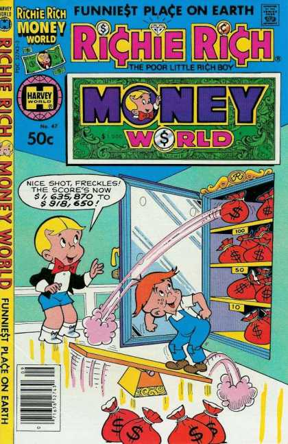 Richie Rich Money World 47 - The Poor Little Rich Boy - Harvey World - Funniest Place On Earth - Money Bags - Vault