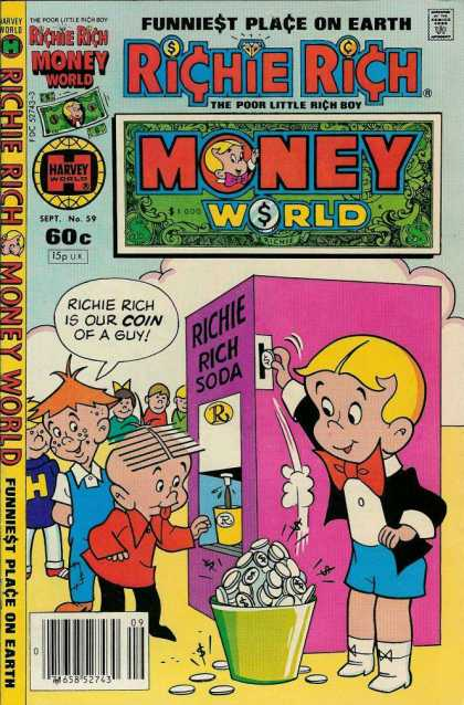Richie Rich Money World 59 - Rich Kid - Money Does Grow On Trees - Helpfull - Needy - Gimmy