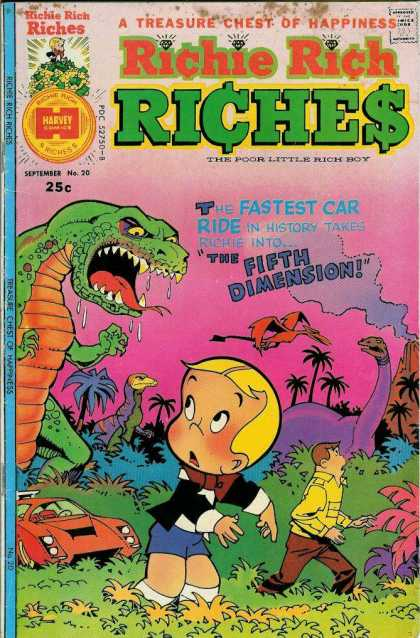 Richie Rich Riches 20 - Dinosaur - Volcano - Car - Jungle - Flying