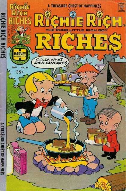 Richie Rich Riches 34 - Pancakes - Cooking - Fire - Camping - Syrup