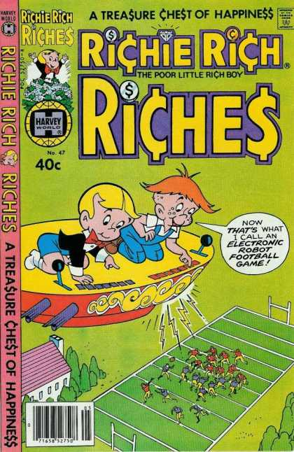 Richie Rich Riches 47 - Treasure - Chest - Happiness - Robot - Football