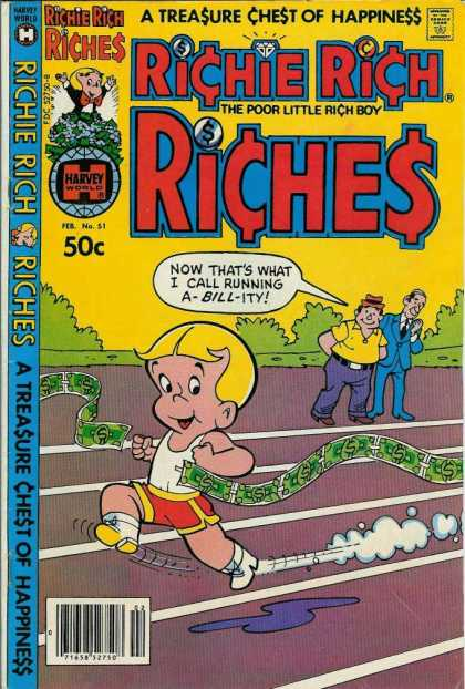 Richie Rich Riches 51 - Tresure Chest Of Happiness - Money - Harvey - Poor Little Rich Boy - Dollars