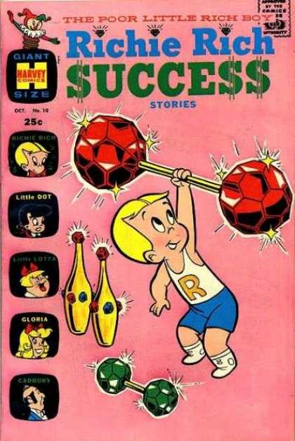 Richie Rich Success Stories 10 - Poor - Diamond - Gloria - Little Dot - Pins