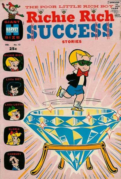 Richie Rich Success Stories 12 - Diamond - Skating - Little Lotta - Gloria - Cadbury