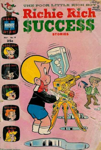 Richie Rich Success Stories 19 - Water Cooler - Reginald - Gloria - Giant Sized - Harvey Comics