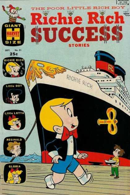 Richie Rich Success Stories 21 - Little Dot - Little Lotta - Reginald - Gloria - Windup Ship