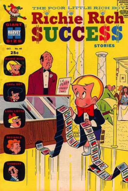 Richie Rich Success Stories 40 - Credit Cards - Hotel Lobby - Little Dot - Little Lotta - Reginald