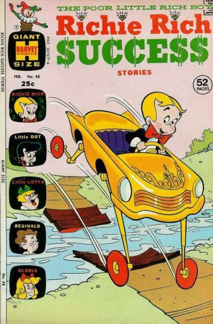 Richie Rich Success Stories 48 - Bridge - River - Little Lotta - Little Dot - Reginald