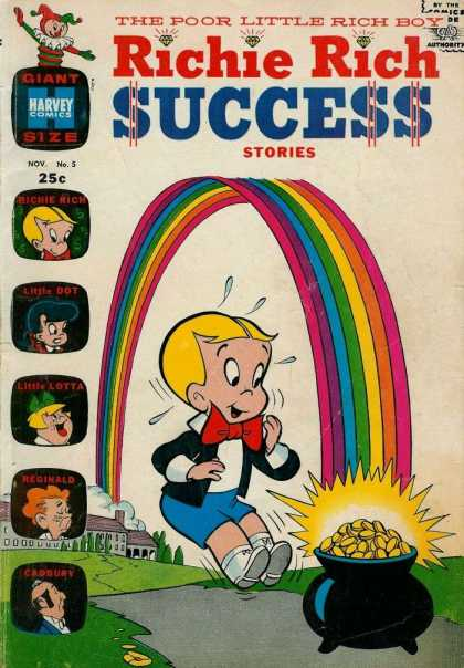 Richie Rich Success Stories 5 - Harvey Comics - Little Dot - Reginald - Little Lotta - Cadbury