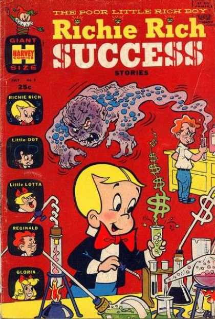 Richie Rich Success Stories 8 - Little Dot - Little Lotta - Reginald - Gloria - Harvey Comics