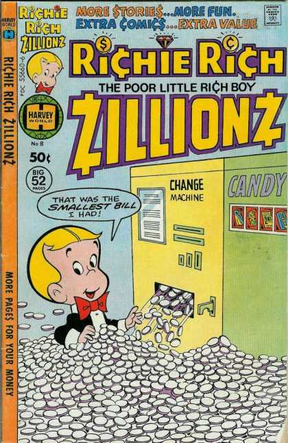 Richie Rich Zillionz 8 - Change Machine - Candy Machine - Coins - Smallest Bill - Money
