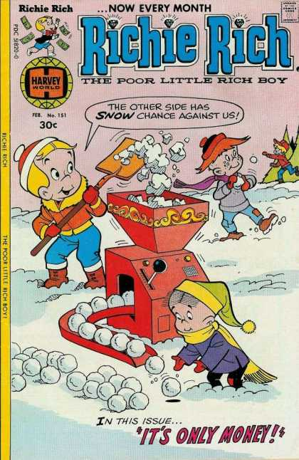 Richie Rich 151 - Its Only Money - Shovel - Snow - Snowballs - Winter