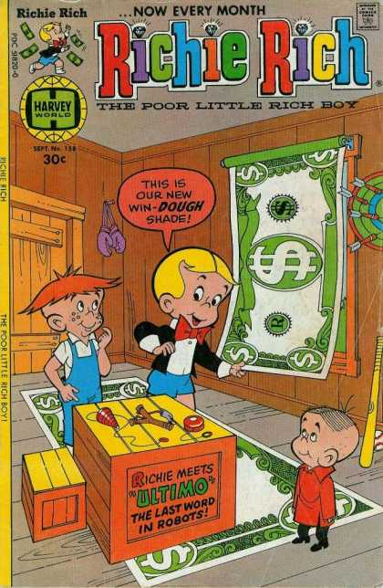 Richie Rich 158 - Richie Rich - Richie Meets Ultimo - The Last Word In Robots - Harvey World - The Poor Little Rich Boy