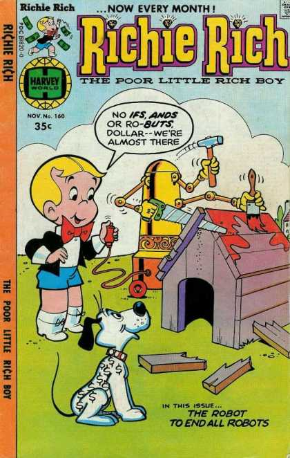 Richie Rich 160 - Robot - Dog House - Hammer - Paint - Saw