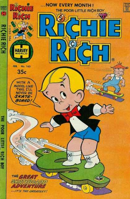 Richie Rich 163 - Dollar Sign - Skateboard - Richie Rich - Money - The Great Skateboard Adventure